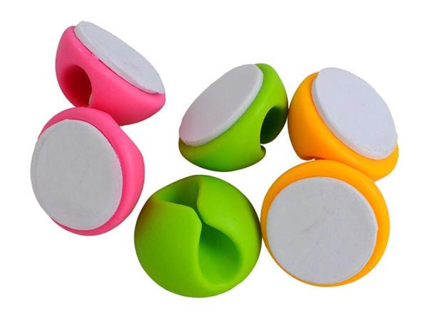 萬能線材桌面固定器(6顆入) 顏色隨機【D570109】