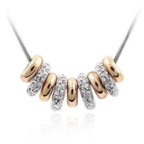 【米蘭精品】925純銀項鍊鑲鑽吊墜-優雅鎖骨短款情人節生日禮物女飾品1色73aj73