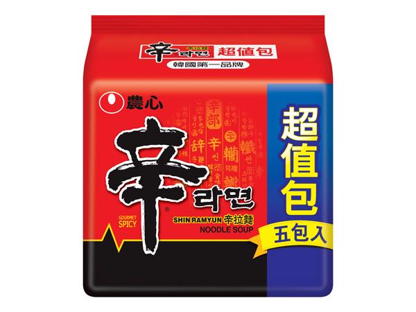 韓國 農心~辛拉麵(5入超值包)【D041688】