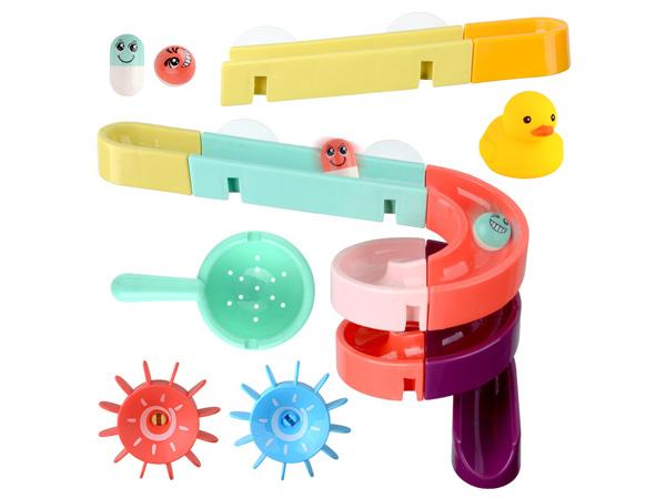 寶寶洗澡玩具~DIY拼接軌道滑滑樂(24件組)【D467104】顏色隨機出貨