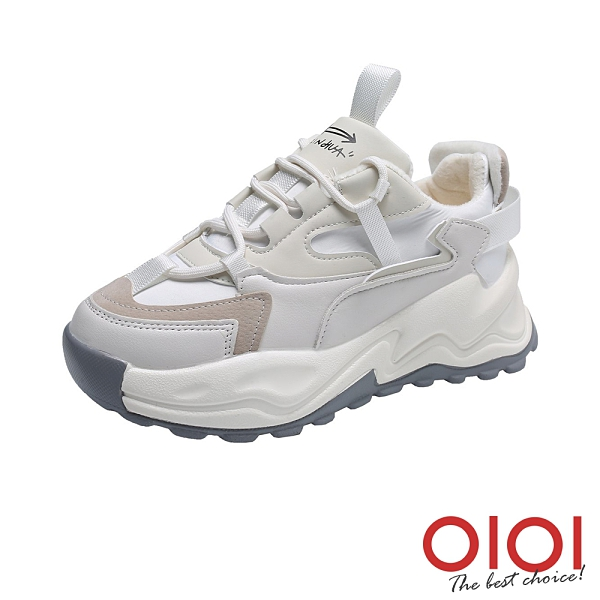 休閒鞋 酷女穿搭增高老爹鞋(米白) *0101shoes【18-2101mi】【現+預】