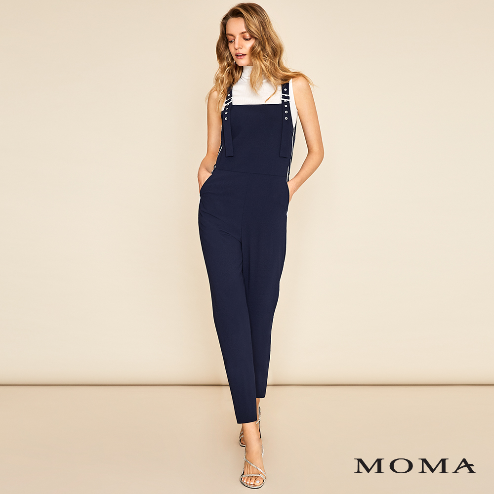 MOMA(01P070)配色細節連身長褲