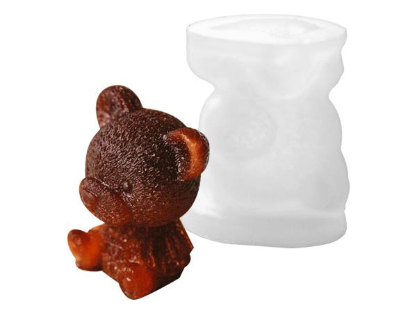 可愛毛衣小熊矽膠造型冰模(1入)【D021721】