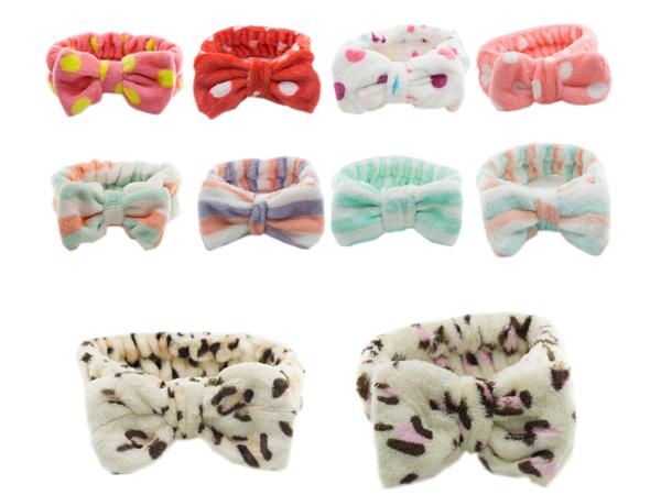 珊瑚絨立體大蝴蝶結髮帶(1入)【D280015】款式隨機出貨
