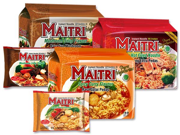 印尼MAITRI 麥得力~香菇清湯素麵/素辣乾麵/咖哩味素湯麵/素乾麵(5包入) 款式可選【D659002】