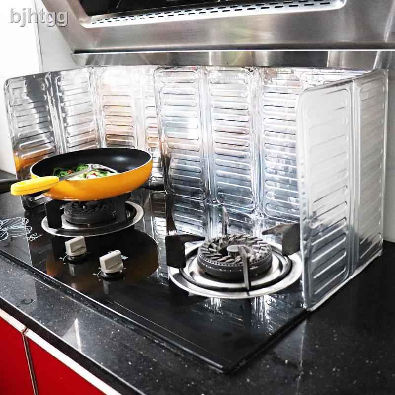 ℗☍廚房煤氣灶臺擋油板炒菜防油濺擋板隔熱板耐高溫防水隔油防油擋板