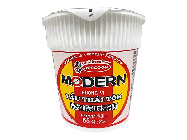 Acecook~MODERN酸蝦味麵(65g) 杯麵【D619138】