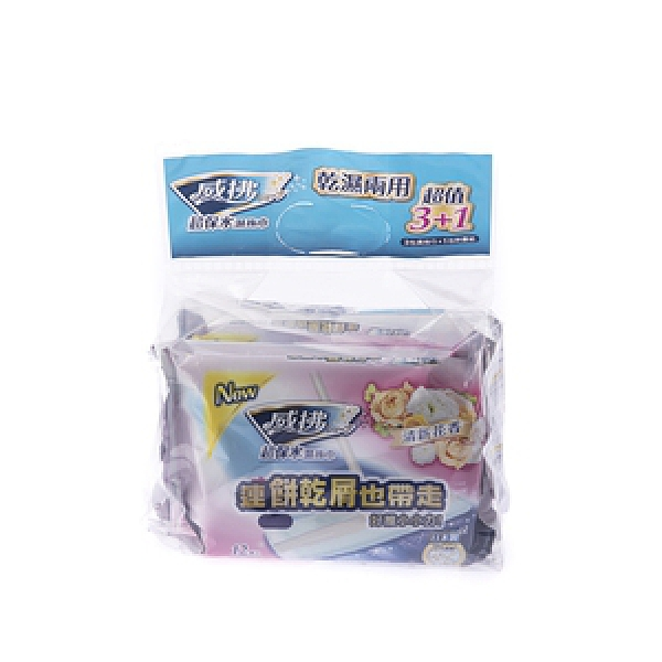 威拂超值組(濕拖巾3包+除塵紙1包)