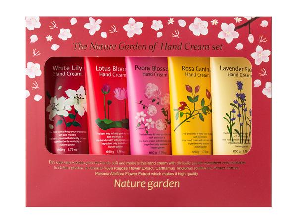 韓國 Nature Garden~經典花香護手霜禮盒(50gx5入)【D950194】