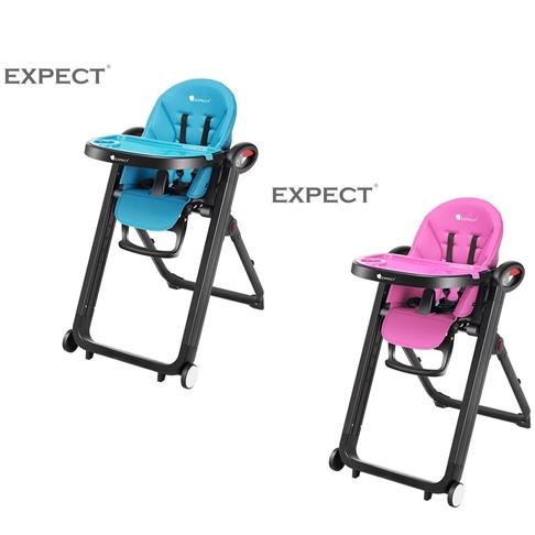 傳佳知寶 EXPECT 多功能兒童餐椅 藍色/紫紅