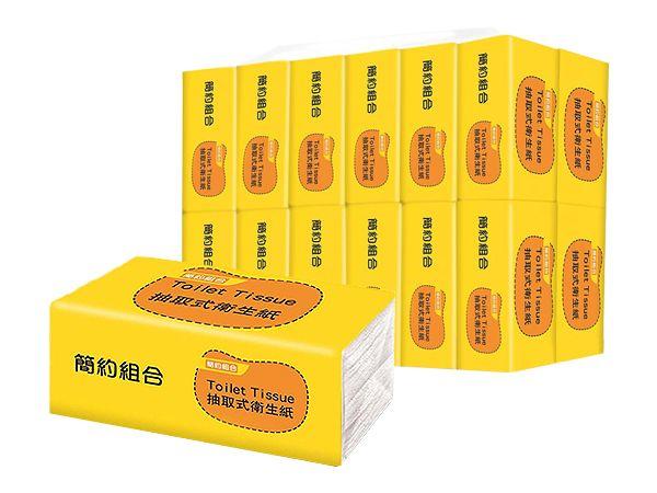 簡約組合~優質抽取衛生紙(150抽x80包)【D050000】※限宅配/無貨到付款