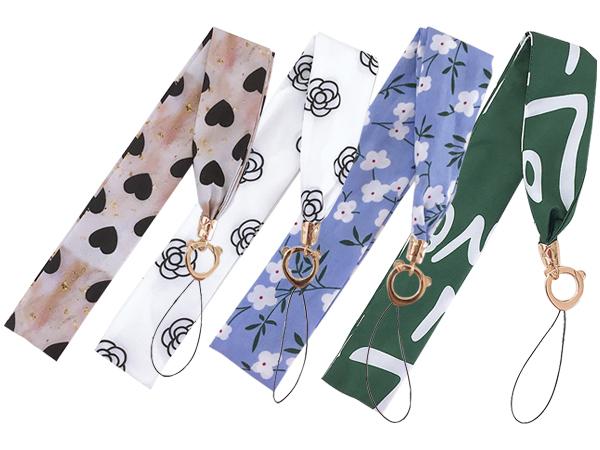 清新甜美絲巾款手機掛繩(1入) 款式隨機出貨【D802166】