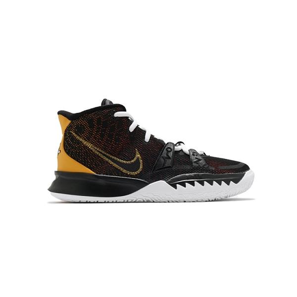 Nike Kyrie 7 (GS) 大童 黑 黃 外星人 避震 包覆 運動 籃球鞋 CT4080-001