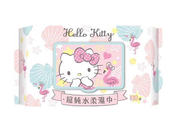 Hello Kitty~超純水柔濕巾(加蓋100抽)【D503793】三麗鷗授權