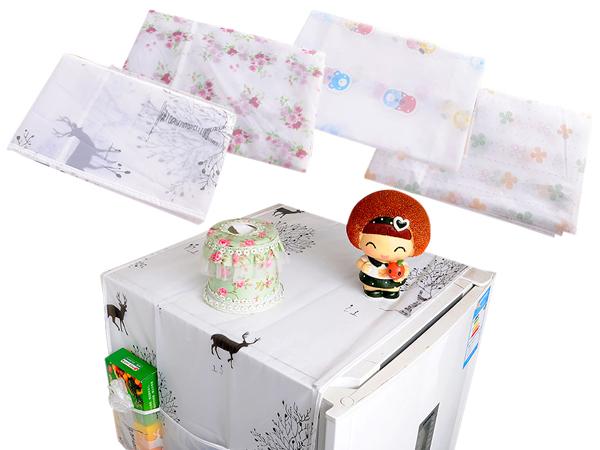 透明印花冰箱防水防塵收納罩(1入)【D127460】不挑款