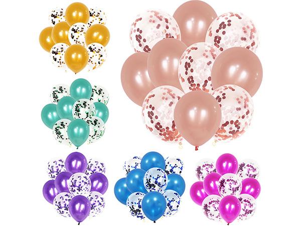 派對紙屑亮片透明氣球套組(10入) 款式可選【D011840】