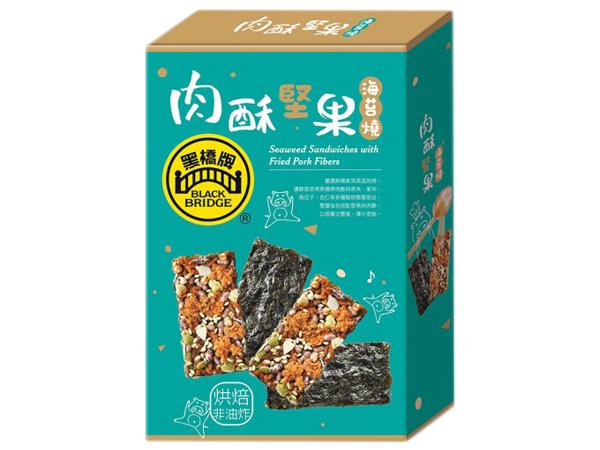 黑橋牌~肉酥堅果海苔燒60g(盒裝)【D816408】
