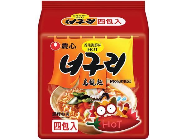 韓國 農心~香辣海鮮烏龍麵4入(整袋裝) 浣熊麵【D157877】