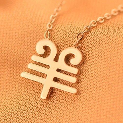 【米蘭精品】玫瑰金項鍊純銀吊墜-生日禮物羊字時尚流行飾品2款71x79