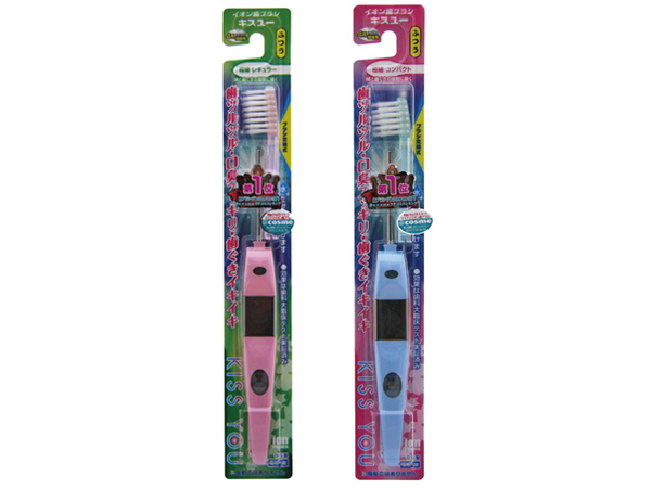 日本 KISS YOU~負離子極細型/輕巧極細 牙刷(1支入) 兩款可選 + 負離子牙刷補充包(極細型H31) 組合款【D034200】