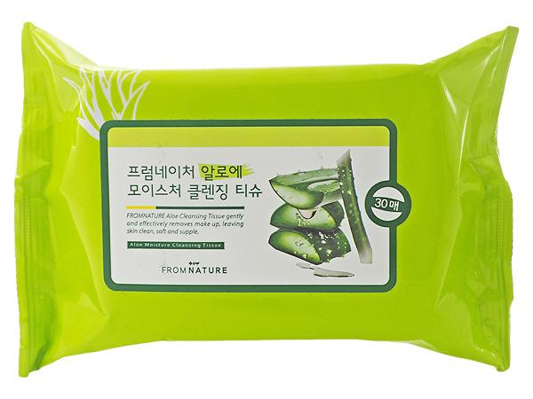 韓國 FROM NATURE~蘆薈保濕卸妝濕巾(30抽) 【D702484】