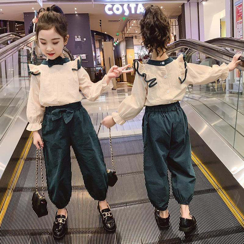 女童套裝春裝2020新款兒童洋氣小女孩兩件套韓版時髦網紅春秋童裝【逢韻緣】