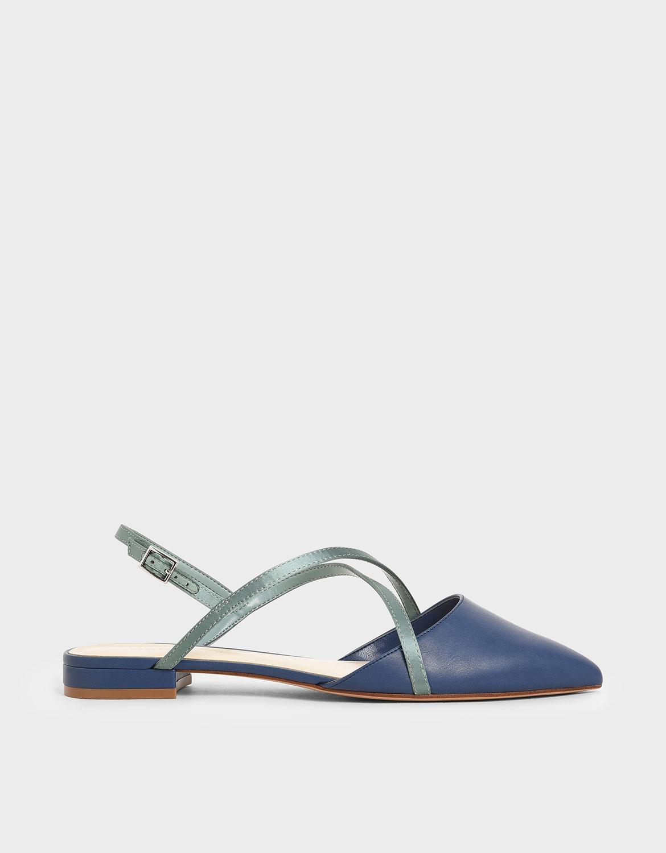 交叉緞帶平底鞋