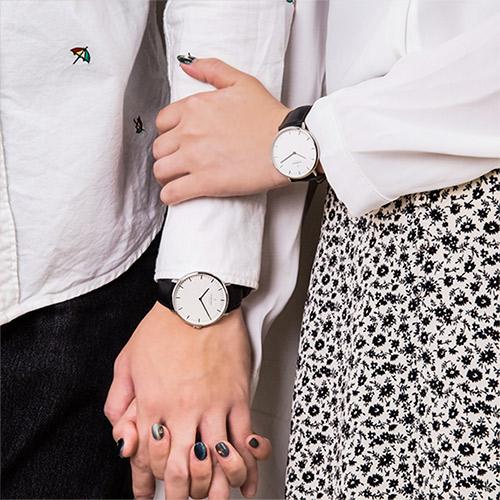 【314情人錶 限時88折up!】ND對錶 Native 本真 月光銀殼×白面 40mm+36mm 極夜黑真皮錶帶 情人對錶 Nordgreen 北歐設計師手錶 NR40SILEBLXX+NR36SI