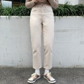韓國空運 - Spicy Fleece-lined straight pants 長褲
