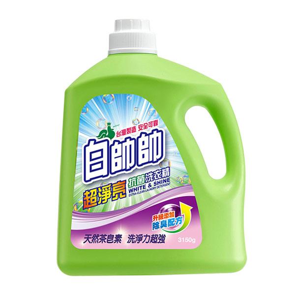 白帥帥超淨亮抗菌洗衣精3150g【康是美】