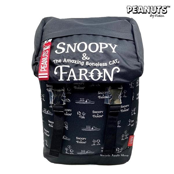 【SAS】日本限定 史努比 SNOOPY & FARON 英字滿版 後背包