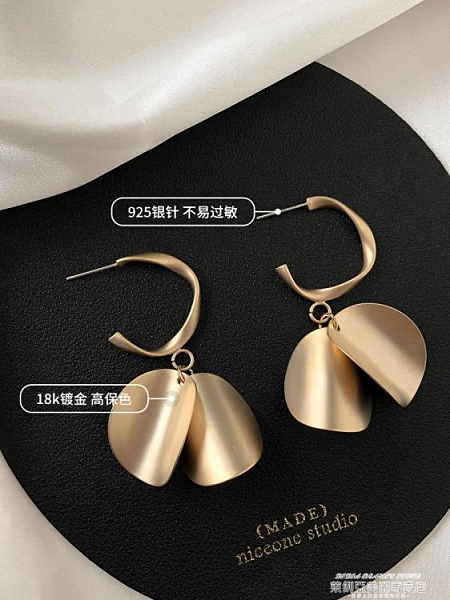 耳環 小眾設計感夸張耳環2021年新款潮復古氣質高級感耳夾無耳洞耳飾女 新品