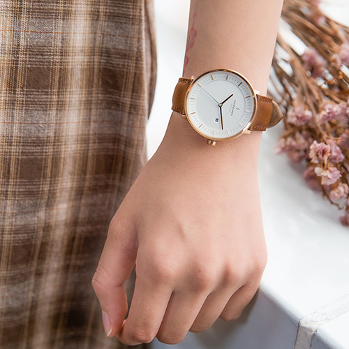 【限時短促88折up!】現貨 ND手錶 Philosopher 哲學家 36mm 玫瑰金殼×白面 復古棕真皮錶帶 Nordgreen 北歐設計師手錶 PH36RGLEBRXX 熱賣中!