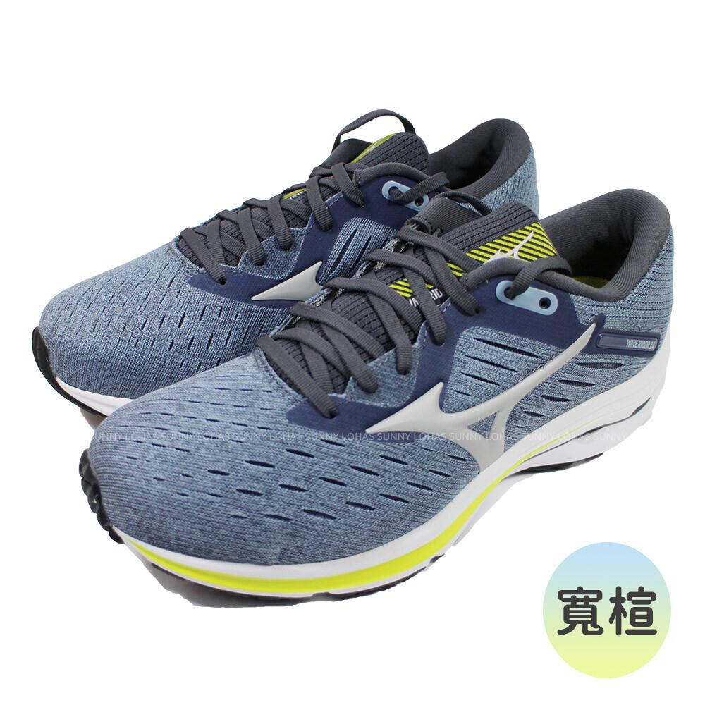 (c2)mizuno 美津濃 男鞋wave rider 24超寬楦 慢跑鞋 j1gc200455