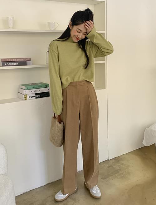 韓國空運 - Howell Pintuck Fleece-lined Wide Slacks 長褲