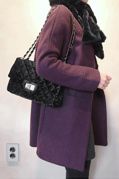 韓國空運 - Studio Wool Coat-Gray Same Day Shipping 大衣外套
