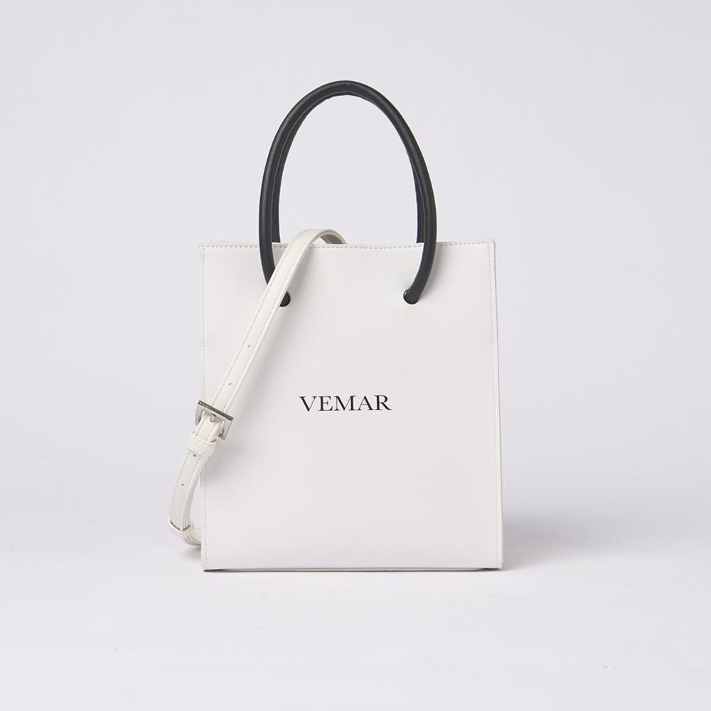 【VEMAR】玩轉風格立體兩用紙袋包(高雅白)