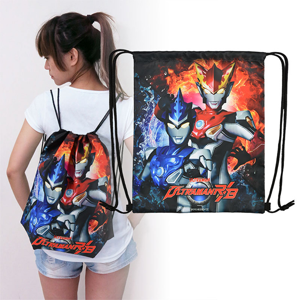 《超人力霸王》束口後背包-R/B
