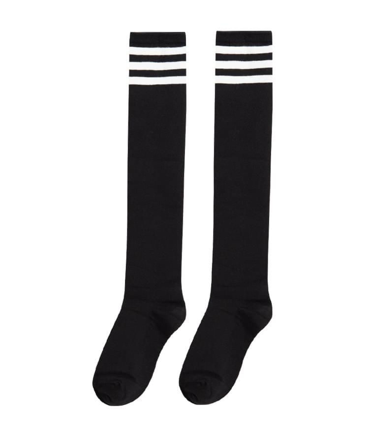 韓國空運 - ESSAYStripe Accent Knee-High Socks 襪子