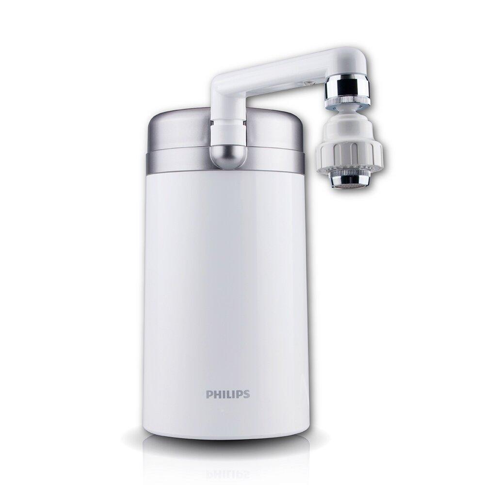 PHILIPS 飛利浦 超濾5重複合濾芯櫥上淨水器 WP3887 日本原裝+3.5L濾水壺-白 AWP2920 超值組