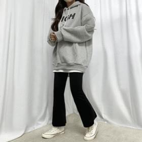 韓國空運 - 内刷毛日常休閒喇叭褲 打底褲