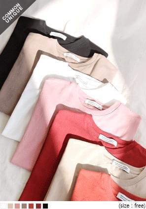 韓國空運 - 寬鬆圓領純棉短袖T恤 短袖上衣