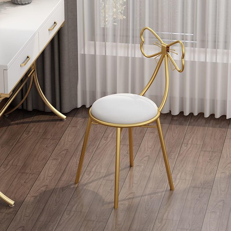 北歐靠背梳妝凳臥室化妝凳子簡約輕奢蝴蝶椅網紅化妝臺梳妝臺椅子