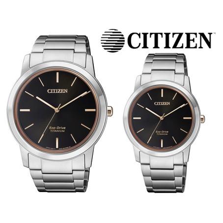 【威哥本舖】星辰CITIZEN全新原廠貨 AW2024-81E & FE7024-84E 鈦金屬光動能情侶對錶