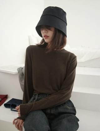韓國空運 - soft touch slim fit sleeve top (4colors) 長袖上衣