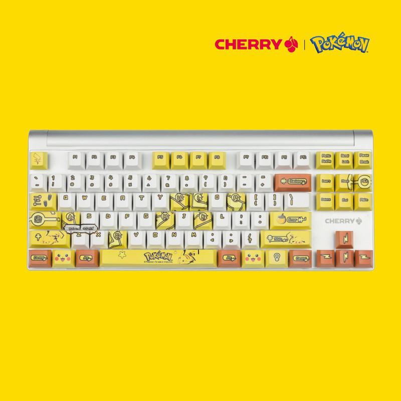 【新款來襲】櫻桃CHERRY MX 8.0 寶可夢皮卡丘主題定制鍵盤黑軸青軸茶軸紅軸