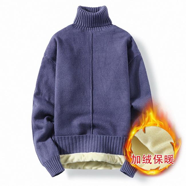 FOFU-(任選2件888)加絨加厚保暖針織毛衣【08SB00140】