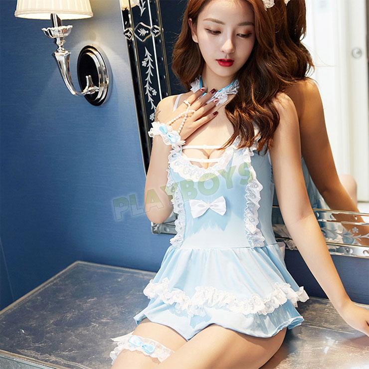 淡藍優雅 唯美女僕裝