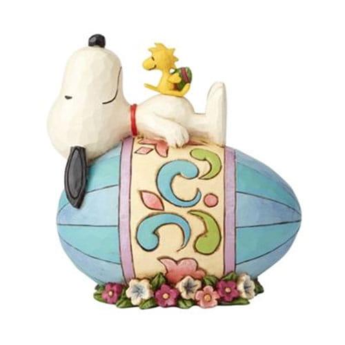 史努比復活節蛋塑像