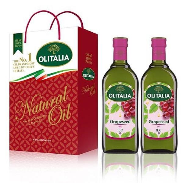 【南紡購物中心】Olitalia奧利塔-葡萄籽油禮盒(2罐/組)1組